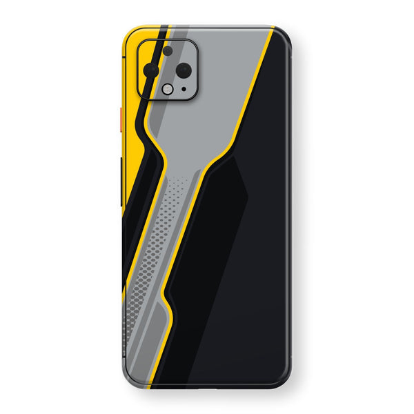 Google Pixel 4 XL Print Custom SIGNATURE Adventure YELLOW Racing Skin, Wrap, Decal, Protector, Cover by EasySkinz | EasySkinz.com