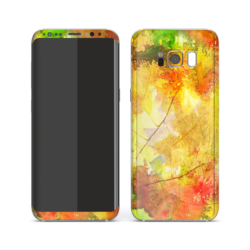 Samsung Galaxy S8+ Print Custom Signature Autumn Watercolour Skin Wrap Decal by EasySkinz