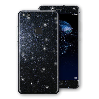 Huawei P10 LITE Diamond Black Shimmering, Sparkling, Glitter Skin, Decal, Wrap, Protector, Cover by EasySkinz | EasySkinz.com