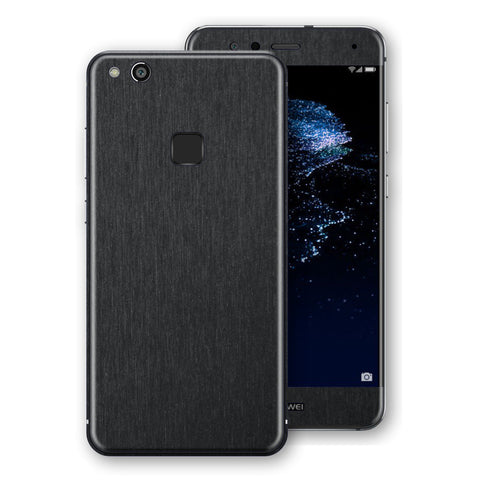 Huawei P10 LITE Brushed Black Metallic Metal Skin, Decal, Wrap, Protector, Cover by EasySkinz | EasySkinz.com
