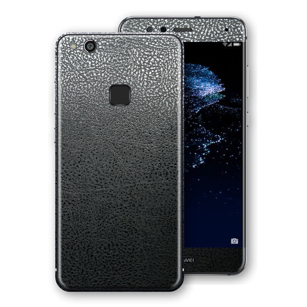 Huawei P10 LITE Luxuria BLACK Leather Skin Wrap Decal Protector | EasySkinz