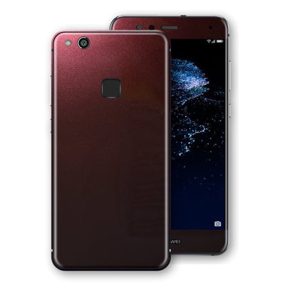 Huawei P10 LITE Black Rose Glossy Metallic Skin, Decal, Wrap, Protector, Cover by EasySkinz | EasySkinz.com