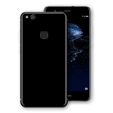 Huawei P10 LITE Black Glossy Gloss Finish Skin, Decal, Wrap, Protector, Cover by EasySkinz | EasySkinz.com