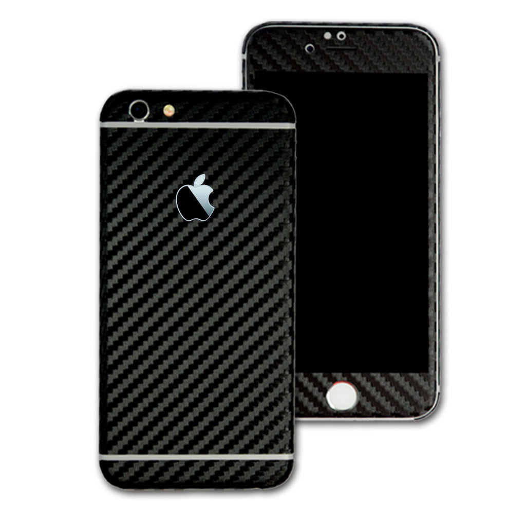 quality design 4cdcf 1cef4 iPhone 6 Plus Black CARBON Fibre Skin / Wrap - EasySkinz
