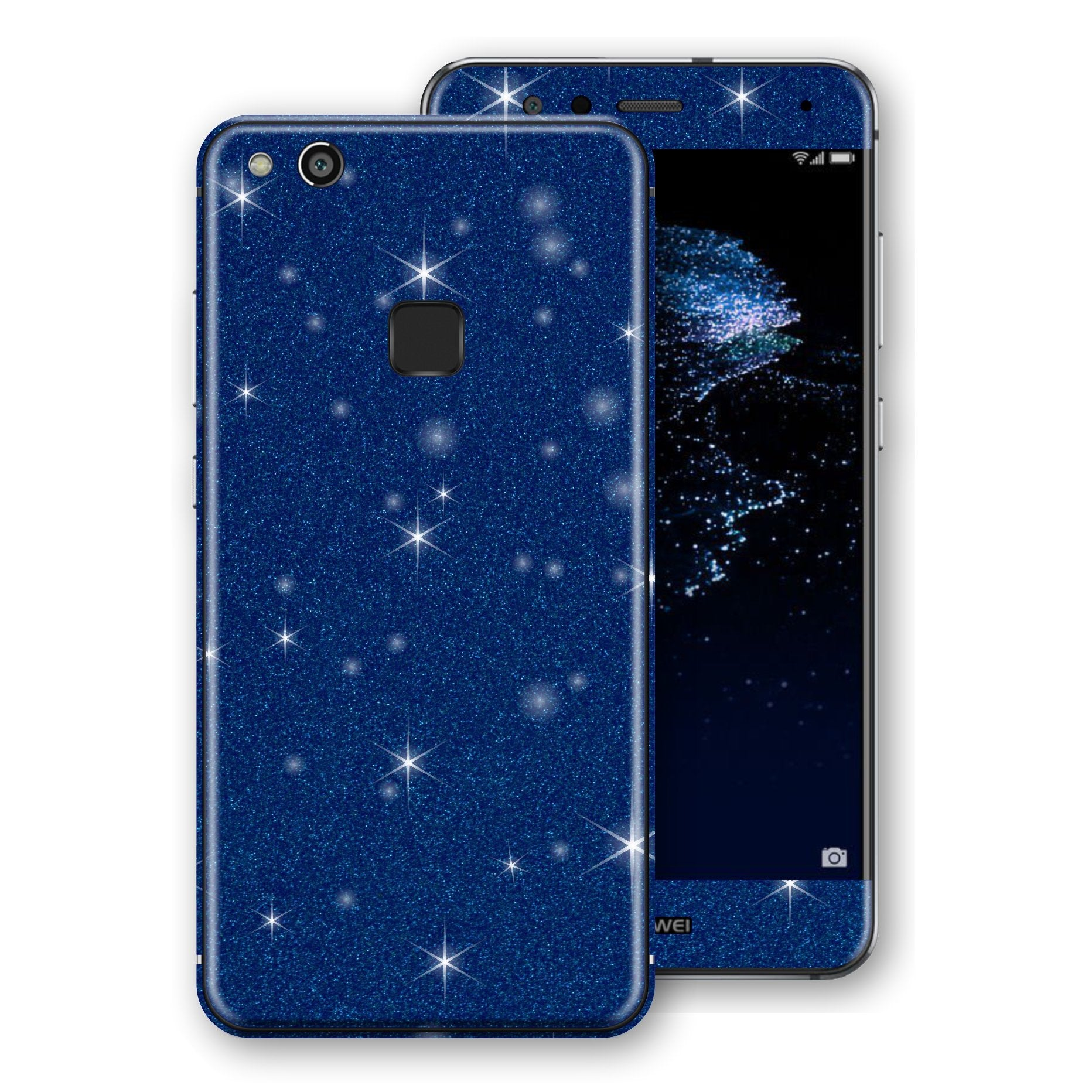 Huawei P10 LITE Diamond Blue Shimmering, Sparkling, Glitter Skin, Decal, Wrap, Protector, Cover by EasySkinz | EasySkinz.com