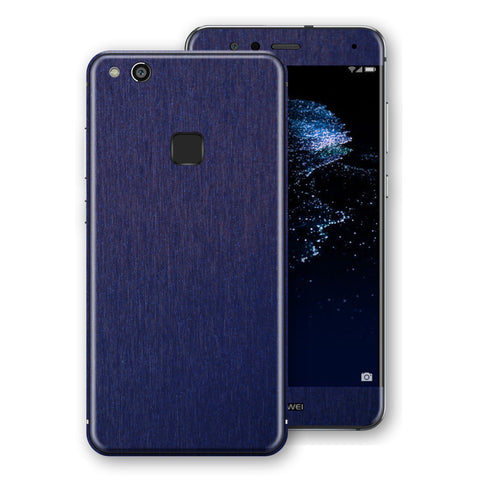 Huawei P10 LITE Brushed Blue Metallic Metal Skin, Decal, Wrap, Protector, Cover by EasySkinz | EasySkinz.com