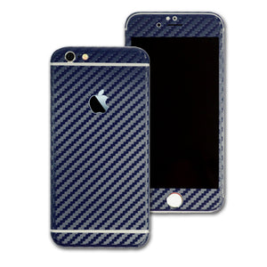 iPhone 6S Navy Blue CARBON Fibre Skin Wrap Sticker Cover Protector Decal by EasySkinz