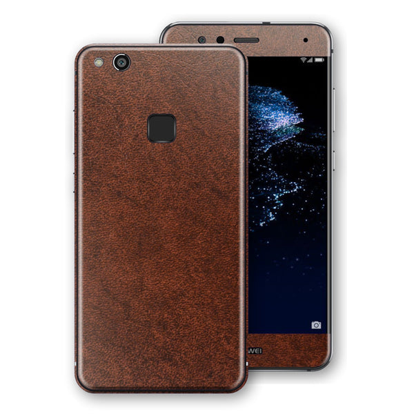 Huawei P10 LITE Luxuria BROWN Leather Skin Wrap Decal Protector | EasySkinz