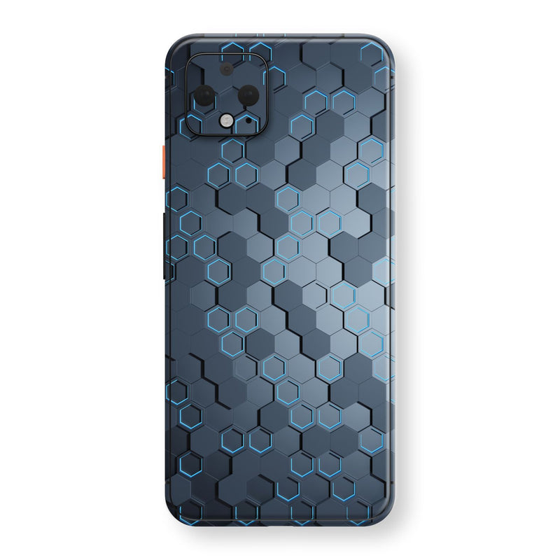 Google Pixel 4 XL Print Custom SIGNATURE Blue HEXAGON Skin, Wrap, Decal, Protector, Cover by EasySkinz | EasySkinz.com