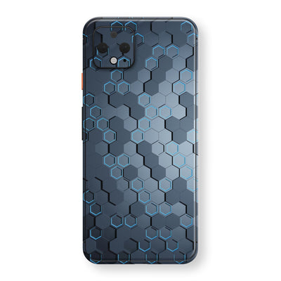 Google Pixel 4 Print Custom SIGNATURE Blue HEXAGON Skin, Wrap, Decal, Protector, Cover by EasySkinz | EasySkinz.com