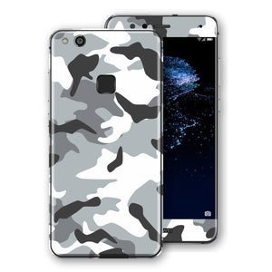 Huawei P10 LITE Print Custom Signature Grey Camouflage Camo Skin Wrap Decal by EasySkinz
