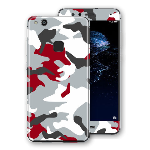 Huawei P10 LITE Print Custom Signature Camouflage Red Skin Wrap Decal by EasySkinz