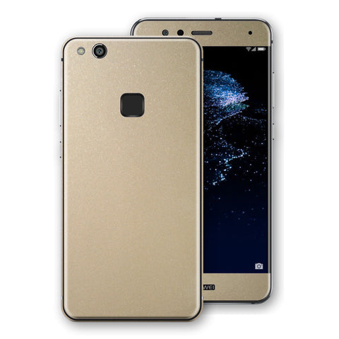 Huawei P10 LITE Champagne Gold Glossy Metallic Skin, Decal, Wrap, Protector, Cover by EasySkinz | EasySkinz.com