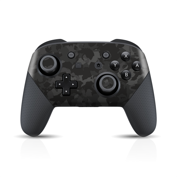Nintendo Switch Pro Controller Print Printed Custom SIGNATURE Camouflage DARK SLATE Skin Wrap Sticker Decal Cover Protector by EasySkinz