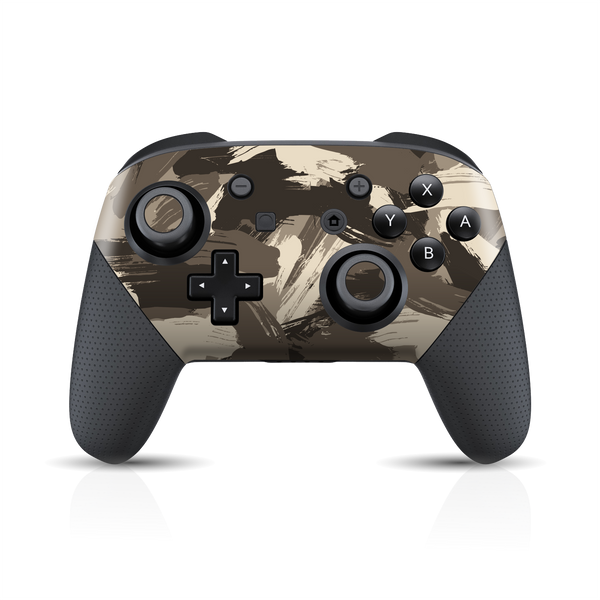 Nintendo Switch Pro Controller Print Printed Custom SIGNATURE Camouflage DESERT Skin Wrap Sticker Decal Cover Protector by EasySkinz