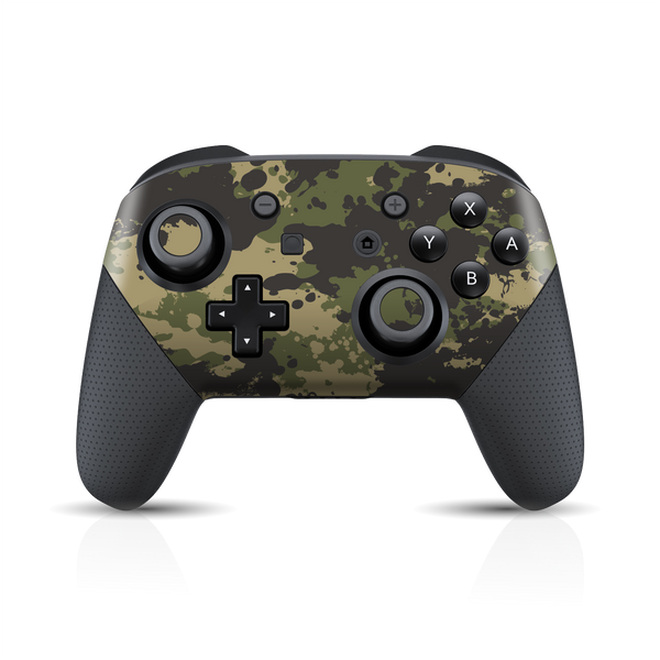 Nintendo Switch Pro Controller Print Printed Custom SIGNATURE Camouflage SPLATTER Skin Wrap Sticker Decal Cover Protector by EasySkinz