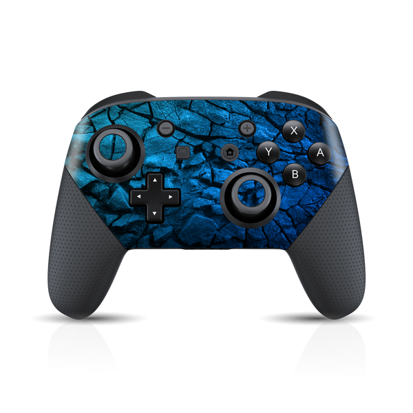 Nintendo Switch Pro Controller Print Printed Custom SIGNATURE Charcoal BLUE Skin Wrap Sticker Decal Cover Protector by EasySkinz