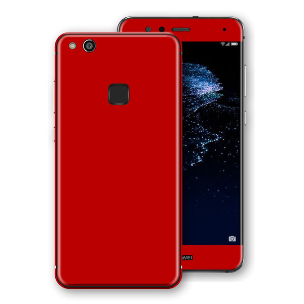 Huawei P10 LITE Deep Red Glossy Gloss Finish Skin, Decal, Wrap, Protector, Cover by EasySkinz | EasySkinz.com