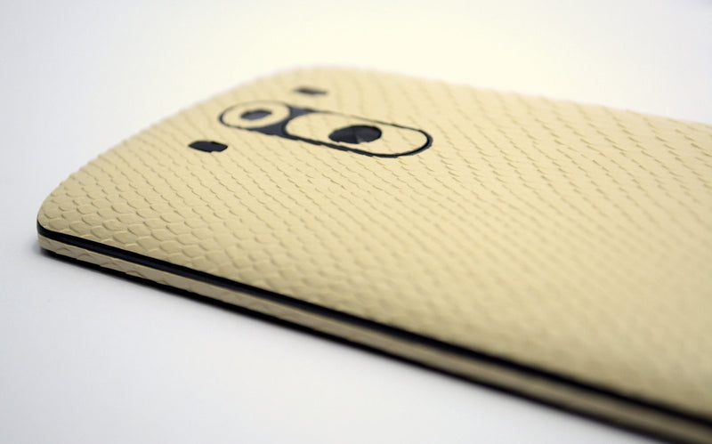 LG G3 Beige Mamba Snake Skin Sticker Wrap Cover Decal