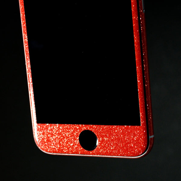 iPhone 6S Diamond RED Shimmering Glitter Skin Wrap Sticker Cover Decal Protector by EasySkinz