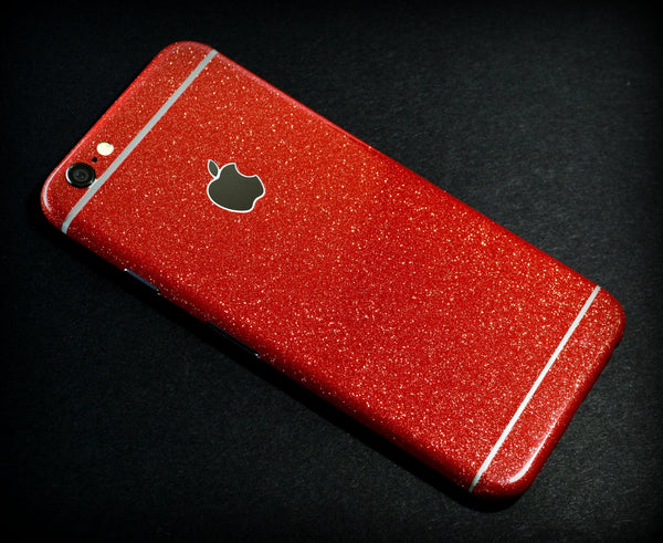 iPhone 6S Plus Diamond RED Shimmering Glitter Skin Wrap Sticker Cover Decal Protector by EasySkinz