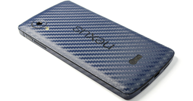 LG GOOGLE Nexus 5 CARBON Fibre NAVY BLUE Skin Sticker Wrap Cover Decal Protector