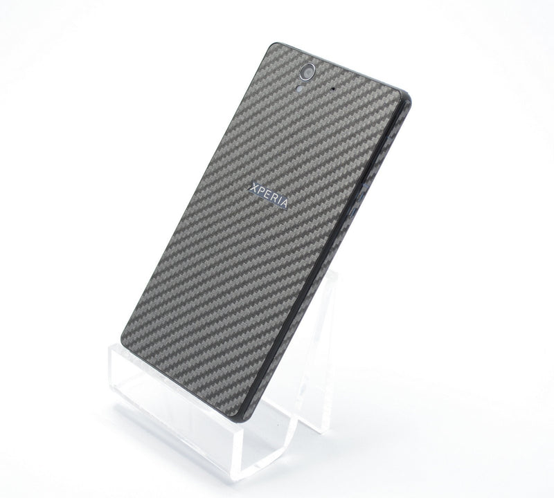 Sony Xperia Z Metallic Grey CARBON Fibre Skin