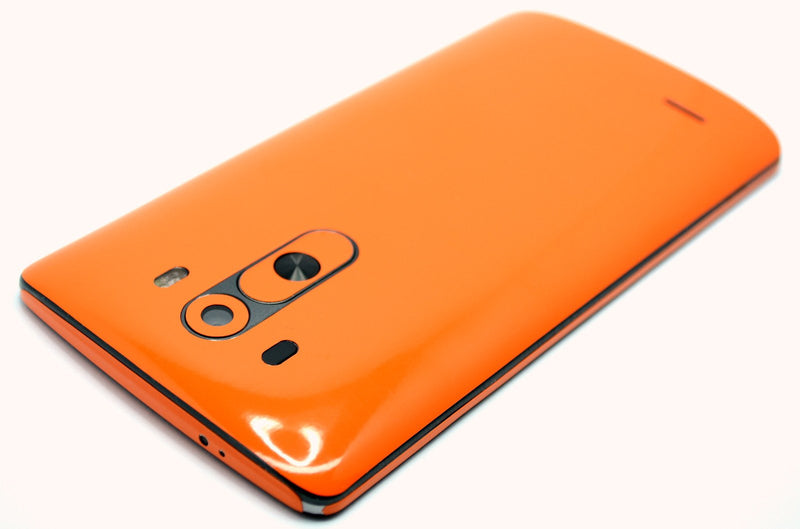 LG G3 Glossy Orange Skin Sticker Wrap Cover Decal Protector