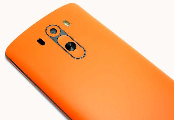 LG G3 MATT Matte Orange Skin Sticker Wrap Cover Decal Protector