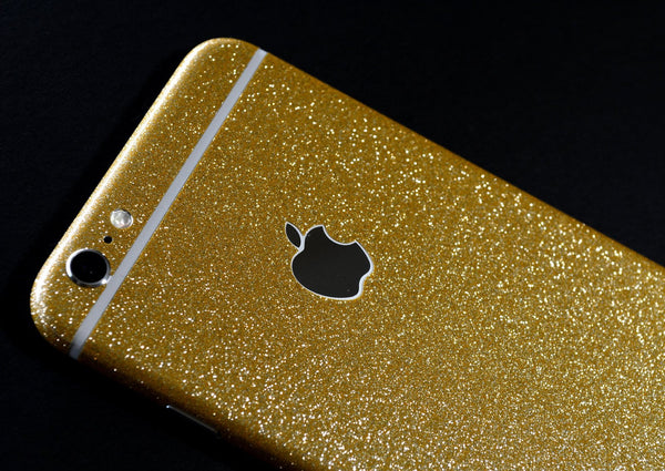 iPhone 6 Plus Diamond GOLD Shimmering Glitter Skin Wrap Sticker Cover Decal Protector by EasySkinz