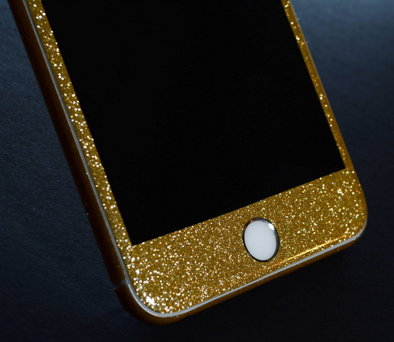 iPhone 6S Plus Diamond GOLD Shimmering Glitter Skin Wrap Sticker Cover Decal Protector by EasySkinz