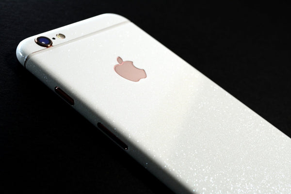 iPhone 6S Diamond WHITE Shimmering Glitter Skin Wrap Sticker Cover Decal Protector by EasySkinz