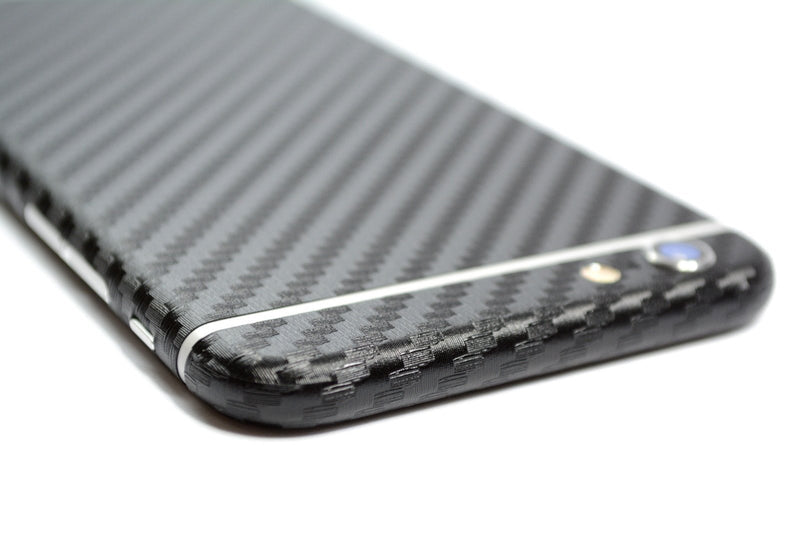 iPhone 6S PLUS Black CARBON Fibre Skin Wrap Sticker Cover Decal Protector