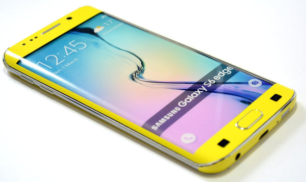Samsung Galaxy S6 EDGE+ PLUS Colorful GLOSS GLOSSY Lemon Yellow Skin Wrap Sticker Cover Protector Decal by EasySkinz