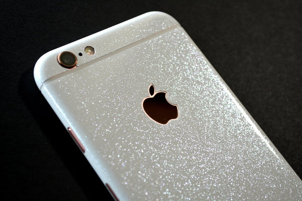 iPhone 6 Plus Diamond WHITE Shimmering Glitter Skin Wrap Sticker Cover Decal Protector by EasySkinz