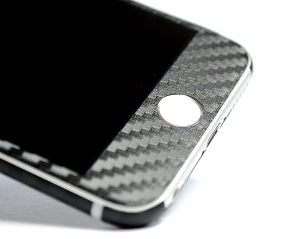 iPhone 6 Black CARBON Fibre Skin Wrap Sticker Cover Decal Protector