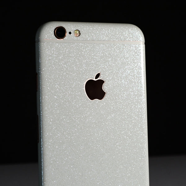 iPhone 6 Diamond WHITE Shimmering Glitter Skin Wrap Sticker Cover Decal Protector by EasySkinz