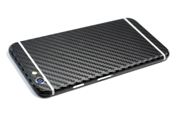 iPhone 6S Black CARBON Fibre Skin Wrap Sticker Cover Decal Protector
