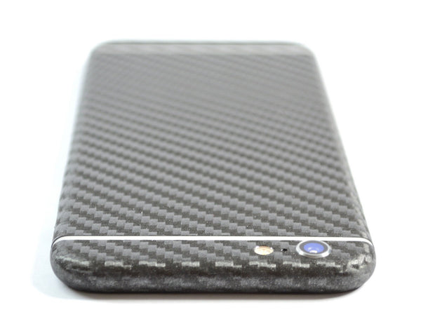 iPhone 6S Metallic Grey CARBON Fibre Sticker Skin Wrap Decal