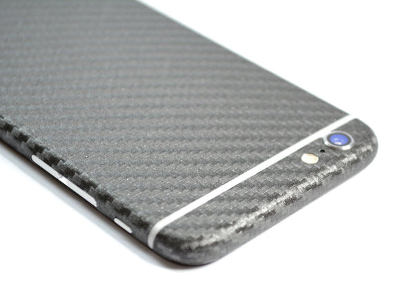 iPhone 6S PLUS Metallic Grey CARBON Fibre Sticker Skin Wrap Decal