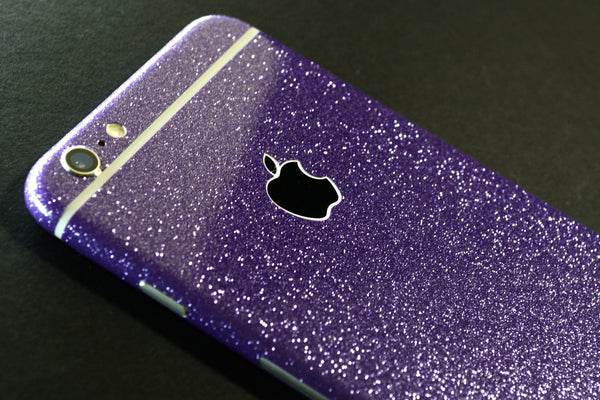iPhone 6S Diamond PURPLE Shimmering Glitter Skin Wrap Sticker Cover Decal Protector by EasySkinz