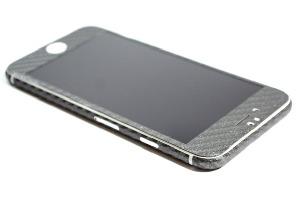 iPhone 6 Plus Metallic Grey CARBON Fibre Sticker Skin Wrap Decal