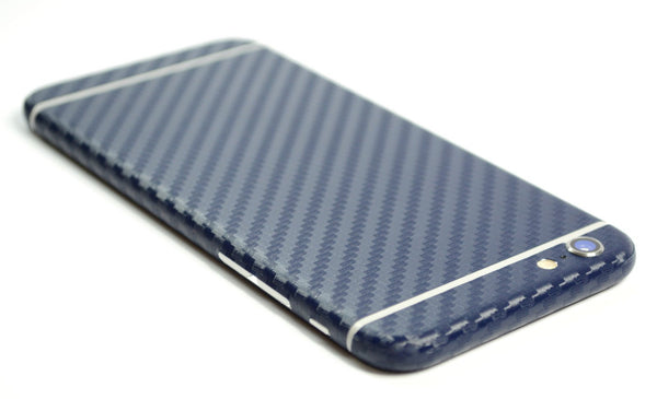 iPhone 6 Plus Navy Blue CARBON Fibre Skin Wrap Sticker Cover Protector Decal by EasySkinz