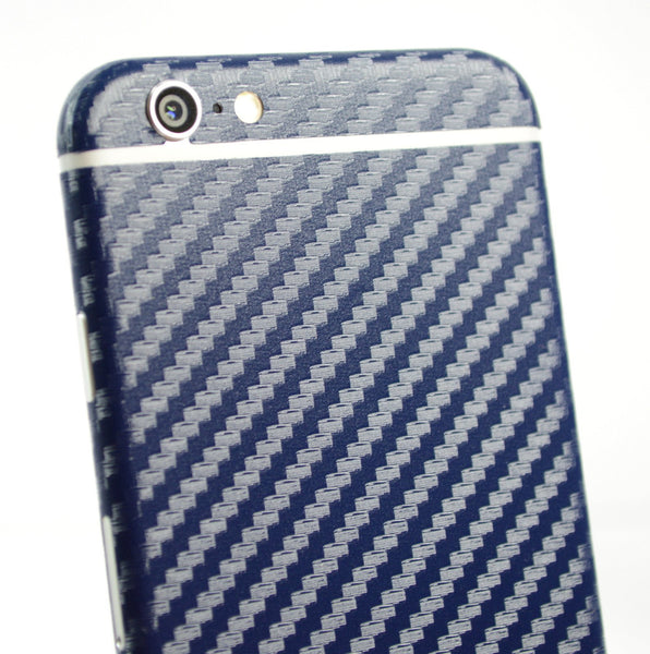 iPhone 6 Navy Blue CARBON Fibre Skin Wrap Sticker Cover Protector Decal by EasySkinz