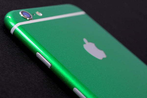 iPhone 6 Plus 3M Glossy Viper Green Tuning Metallic Skin Wrap Sticker Cover Protector Decal by EasySkinz