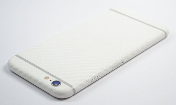 iPhone 6 Plus White CARBON Fibre Skin Wrap Sticker Cover Decal Protector by EasySkinz