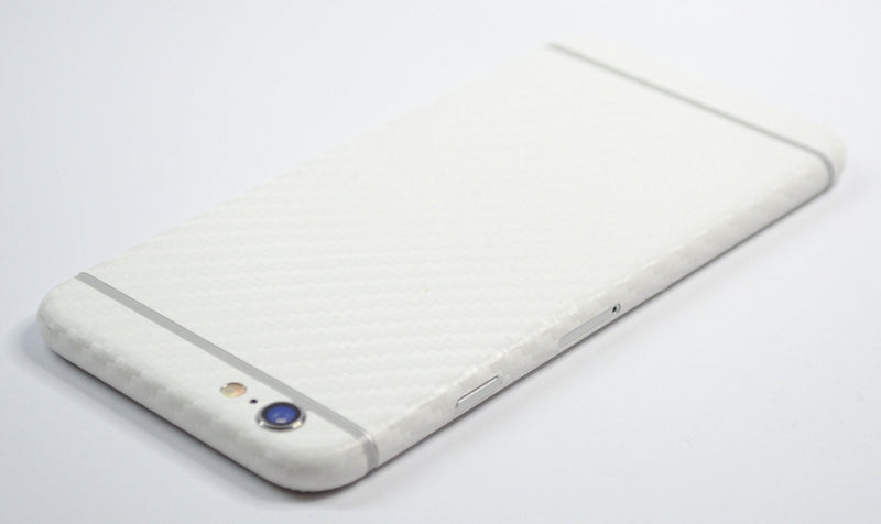 iPhone 6 Two Tone White/Black CARBON Fibre Skin