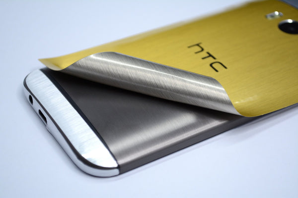 HTC One M8 Gold Silver Skin