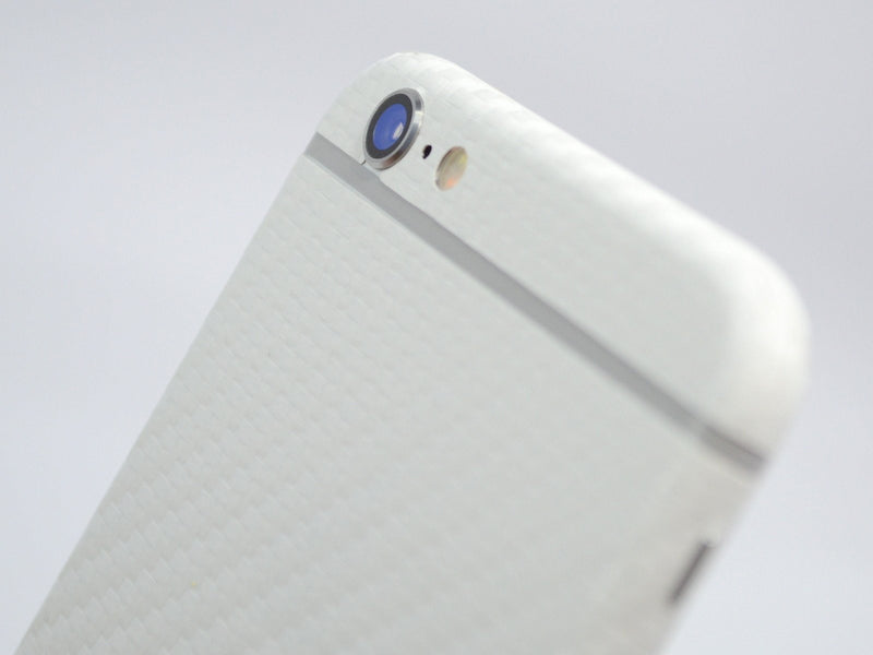 iPhone 6S PLUS Two Tone White/Grey CARBON Fibre Skin
