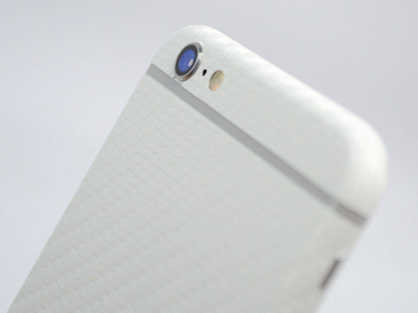 iPhone 6 Plus Two Tone White/Double Red CARBON Fibre Skin